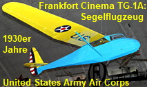 Frankfort Cinema TG-1A: Trainings-Segelflugzeug der United States Army Air Corps in den 1930er Jahren