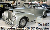 Mercedes Benz 300 SC Roadster-