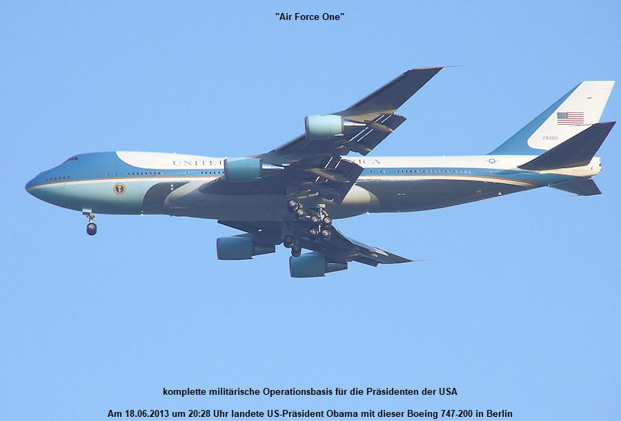 Air Force One (Boeing 747-200): komplette milit�rische Operationsbasis f�r die Pr�sidenten der USA