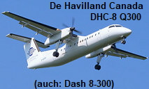 De Havilland Canada DHC-8 - Dash 8-300: 2-motoriges Turbo-Regionalflugzeug