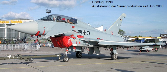 Eurofighter Typhoon:  2-sitzige Tandem-Version