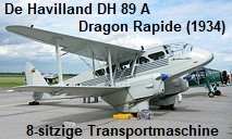 De Havilland DH 89 A Dragon Rapide