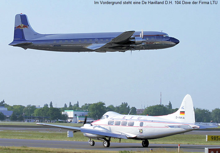 Douglas DC-6 - Flying Bulls der Firma Red Bull