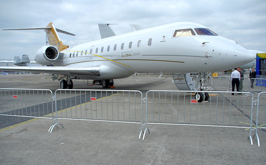 Bombardier Global 5000: Businessjet für interkontinentale Flüge