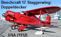 Beechcraft Model 17 Staggerwing: Doppeldecker der USA von 1932