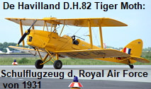 De Havilland D.H.82 Tiger Moth: Trainingsflugzeug der Royal Air Force von 1931