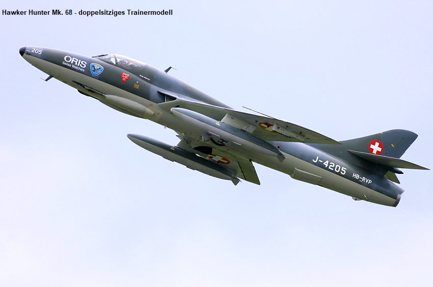 Hawker Hunter Mk. 68 - doppelsitziges Trainermodell