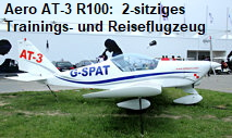 Aero AT-3 R100: 2-sitziges Trainings- und Reiseflugzeug in Metallbauweise