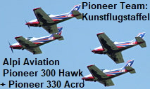 Alpi Aviation Pioneer 300 Hawk und Pioneer 330 Acro: Das Pioneer Team zeigt Kunstflug in Perfektion