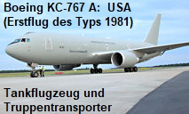 Boeing KC-767 A: Tankflugzeug und Truppentransporter der U.S. Air Force (hier: Italian Air Force)