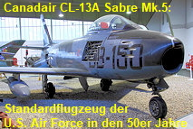 Canadair CL-13A Sabre Mk.5: Standardflugzeug der U.S. Air Force in den 1950er Jahren