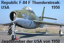 Republic F-84 F Thunderstreak: Jagdbomber der USA von 1950