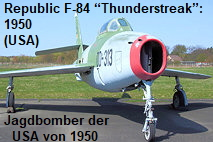 "Republic F-84 ""Thunderstreak"": Jagdbomber der USA von 1950"