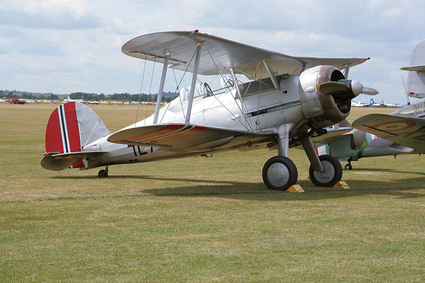 Gloster Gladiator: Doppeldecker-Jagdflugzeug der Royal Air Force (RAF)