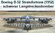 Boeing B-52 Stratofortress: Die Boeing B-52 – auch BUFF (Big Ugly Fat Fellow) genannt – ist das älteste noch betriebene Modell der Luftfahrtgeschichte.