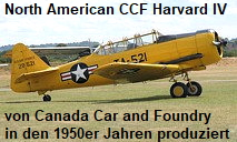 North American CCF Harvard IV: von Canada Car and Foundry in den 1950er produziertes Trainigsflugzeug