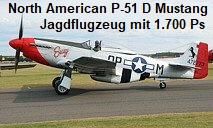 North American P-51 D Mustang: Jagdflugzeug mit 1.700 Ps