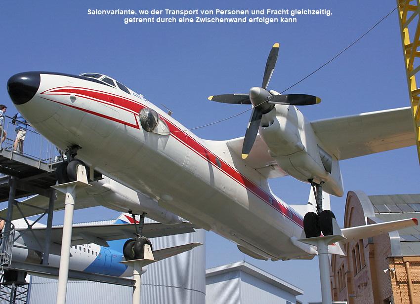 Antonow an-26: die ausrüstung des flugzeugs erlaubt flüge bei tag