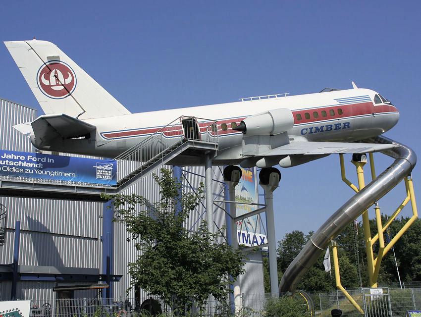 Fokker vfw 614: merkmal des flugzeugs ist die triebwerkmontage auf