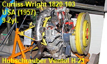 Sternmotor Curtiss-Wright 1820-103 der Ventol H-21