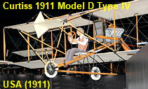 Curtiss 1911 Model D Type IV - Flugzeug der USA von 1911