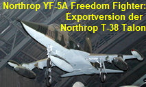 Northrop YF-5A Freedom Fighter: Exportversion der Northrop T-38 Talon