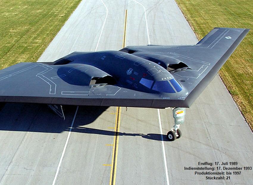 Northrop B 2 Spirit Tarnkappenbomber Als Nurflügler Der Us Air