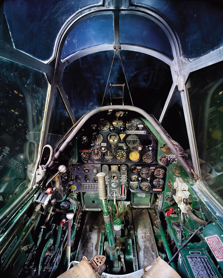 North American O-47A - Cockpit