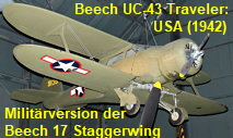 Beech UC-43 Traveler: militärische Version der zivilen Beechcraft Model 17 Staggerwing