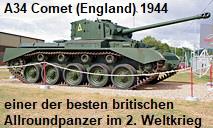 A34 Comet: einer der besten britischen Allroundpanzer des 2. Weltkriegs