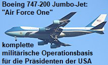 Boeing 747-200 Jumbo-Jet - Air Force One: komplette milit�rische Operationsbasis f�r die Pr�sidenten der USA