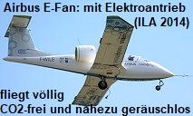 Airbus E-Fan: Die Versuchsmaschine mit Elektroantrieb fliegt völlig CO2-frei und nahezu geräuschlos