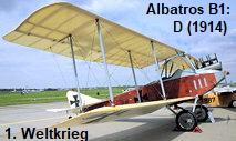Albatros B1 (1914): kam besonders im Ersten Weltkrieg zum Einsatz