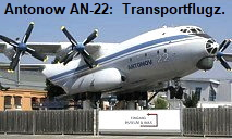 Antonow AN-22: größtes Propeller getriebenes Flugzeug der Welt (Turbo-Prop)