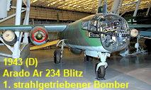 Arado Ar 234 B-2 Blitz: Das Flugzeug war der erste tatsächlich eingesetzte strahlgetriebene Bomber der Welt