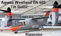 Agusta Westland BA 609 Tilt Rotor: senkrecht startendes Flugzeug mit Kipprotor