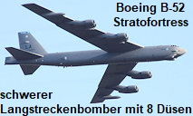 Boeing B-52 Stratofortress: schwerer Langstreckenbomber der US-Luftwaffe