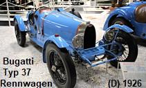 Bugatti Typ 37: von 1927 bis 1932 beherrschte der Typ 37 die Rennwagenklasse