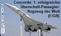 Concorde F-BVFB: Erstes erfolgreiches Überschall-Passagierflugzeug der Welt (FR/GB)