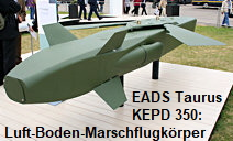 EADS Taurus KEPD 350: Luft-Boden-Marschflugkörper bis zu 350 km