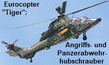 Eurocopter Tiger: Angriffs- und Panzerabwehrhubschrauber