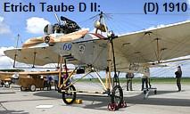 Etrich Taube D II: Tragflächenform erinnert an Vogelschwingen