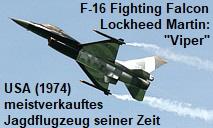 Lockheed Martin F-16 Fighting Falcon: Das meistverkauftes Jagdflugzeug seiner Zeit