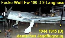 Focke-Wulf Fw 190 D-9 Langnase - deutsches Jagdflugzeug