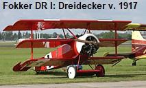 """Fokker DR I: Dreidecker von 1917 des """"Roten Baron"""" Manfred von Richthofen"""