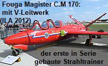 Fouga Magister C.M 170: Das Flugzeug mit V-Leitwerk war der erste in Serie gebaute Strahltrainer der Welt