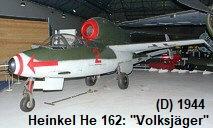 Heinkel He 162 - Volksjäger: Die Flugleistungen lagen über denen der Alliierten Jäger