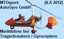 Die AutoGyro GmbH ist Weltmarktführer in der Entwicklung, Produktion und im Vertrieb von Tragschraubern (Gyrocopter / Autogiro)