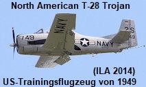 North American T-28 C Trojan: Die Trojan ist ein von North American Aviation produziertes Trainingsflugzeug