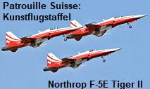 Patrouille Suisse: Kunstflugstaffel mit ihren Flugzeugen des Typs Northrop F-5E Tiger II